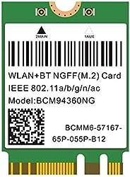 Plug & Play Hackintosh M.2 NGFF WLAN BCM94360NG 802.11ac Bluetooth 4.0 WiFi Card for PC Catalina mac OS Na