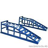 2x Auffahrrampe Rampe PKW bis 245er Räder extra breit blau 2000 kg pro Paar - 2