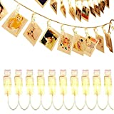 OrchidBest LED Photo Clip String Lights Battery Powered for Hanging Photos Paintings Pictures Christmas Cards and Memos, Indoor/Outdoor Décor Lights for Bedroom Propose Wedding Party Garden Dormitory