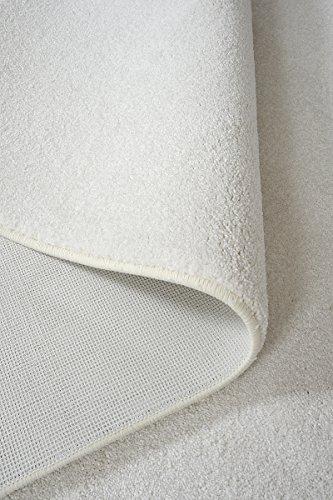 havatex Hochflor Teppich Prestige - Farbauswahl: Weiß, Beige, Braun, Silber | schadstoffgeprüft pflegeleicht robust strapazierfähig | für Wohnzimmer Schlafzimmer, Farbe:Weiß, Größe:200 x 300 cm