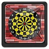 Target - Bersaglio per freccette, 3 pezzi, quadrato, in vetro, per porta, cassetti, per camera da letto, soggiorno, camera dei bambini, cucina, tavolo da toeletta