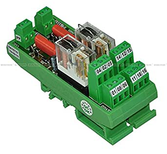 Shavison Relay Module AS432-230VAC-S-OE, 2C/O, 2 Channel, 230VAC Coil, OEN Relay, Socket Mounted Relay, Isolated Coils, Contact Rating : 28VDC/230VAC, 5A