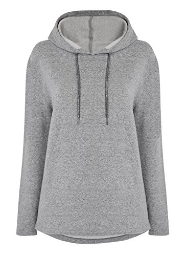 Manuka Life felpa con cappuccio da donna Nirvana tops, donna, Nirvana Hooded, Light Grey Melange, S