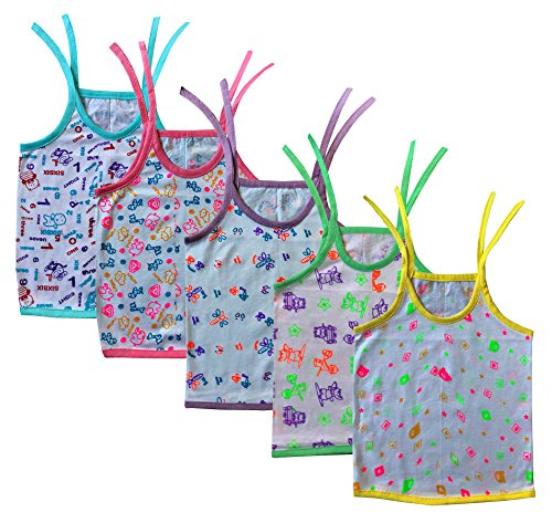 Elk Kids Infant Born Baby Cotton Top Frock Midi Orange Pink Blue Green and Yellow Top 5 Set Combo  available at amazon for Rs.199