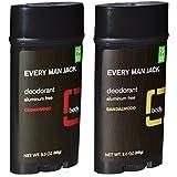 Every Man Jack Aluminum Free Deodorant Cedarwood and Sandalwood Pack of 2