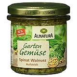 Alnatura Bio Aufstrich Gartengemüse Spinat-Walnuss, 135 g