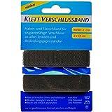 1Stück Klettband Klettverschlussband schwarz Länge: 50 cm / Breite: 2,0 cm zum Annähen,ze.0991