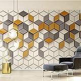 SLCERC Wallpaper Hintergrundbild Quadrat-Mosaik-Geometrisches Muster 3D Wallpaper Cube Günstigstes Spezialisiert Wallpaper Benutzerdefinierte Wandbild In Wohnzimmer, W300Cm * H240Cm