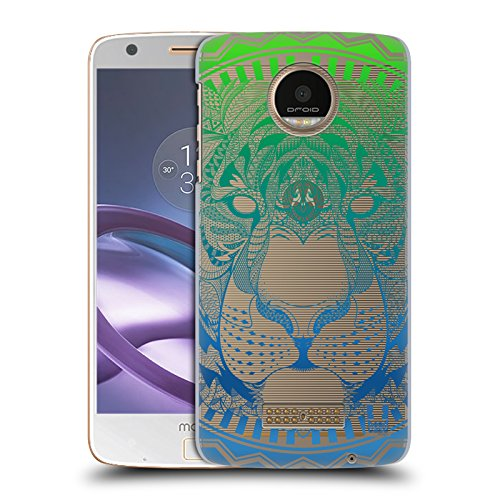 Head Case Designs Tiger Mandala Tiergesicht Ruckseite Hülle für Moto Z Force / Z Force Droid (Force-tiger Ultra)