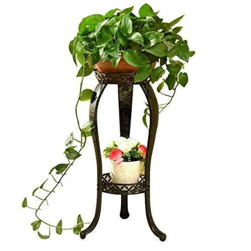Estantería para plantas macetas estante–Florero de hierro accesorio de multicapa salón balcón macetas