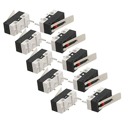 Rosenice 10Stück SPDT-Mikroschalter mit langem Hebel -