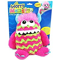 PINK WORRY MONSTER PLUSH TOY RECOMMENDED BY CHILD PSYCHOLOGISTS WRITE DOWN YOUR WORRIES
