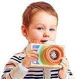 OHQ Kaleidoskop Kamera Spielzeug, erste Kamera für Kinder spielen Kaleidoskop Bild Objektiv New aus Holz ab 18 Monate (A)