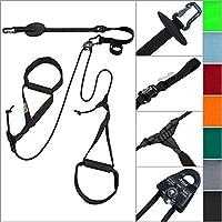 eaglefit Sling-Trainer ALLROUND, Fitnessgerät für Ganzkörper-Training, Schlingentrainer inkl. Umlenkrolle, Längenverstellung 90 - 310 cm, für Profis & Beginner