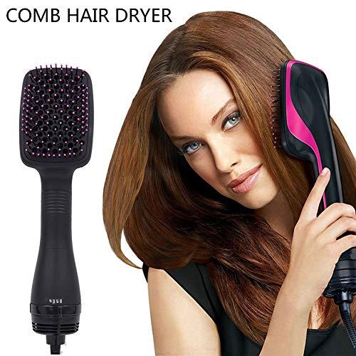 Haarglätter Pinsel Ionic Care Mit LED-Anzeige 120 ℃ Schnelle Erwärmung Heißluftkamm Mit Dual-Spannung 110-240V Anti-Verbrühen Design Glätteisen