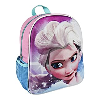51BSroHp%2BpL. SS324  - Disney Mochila Infantil de Elsa con Relieve 25x31x10 cm