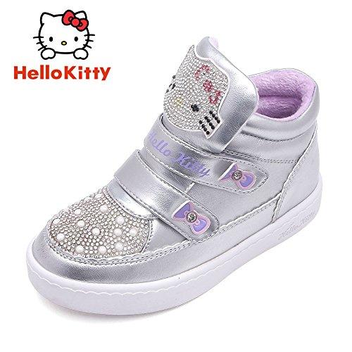 ie Kinder Schuhe kurze Stiefel 3-10 Jährige Mädchen Winter Schuhe große Baumwolle Stiefel aus Codes bieten die Clearing- und, 27, K 6460921 Silber (Clown-schuhe Für Sale)