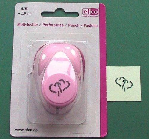 EFCO 1,6cm klein Zwei Herzen, Pink