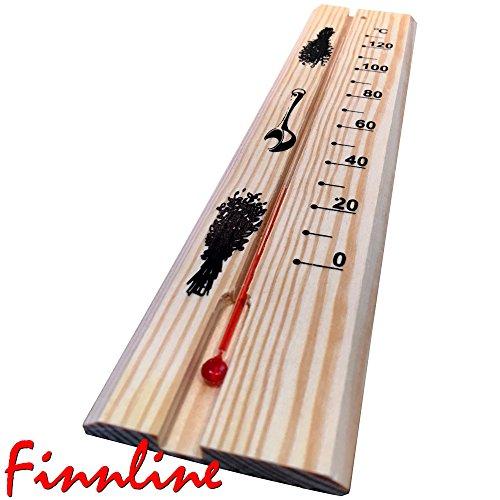 Finnline Saunathermometer Standard 0 - 130°C I Sauna I Thermometer I Saunazubehör I Zubehör I Prime - Versand durch Amazon I Weigand® Wellness