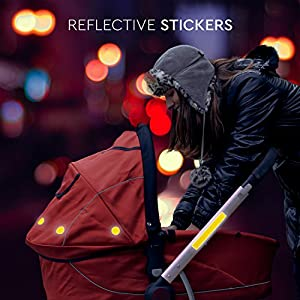 Reflector Stickers | Hi Vis Reflecting Sticker for Adults, Children, Kids | Reflective Decals for Backpacks, Buggy, Clothes, School Bag, Bike | High Safety in the Dawn & at Night | Adhesive by Paents by Everbrent