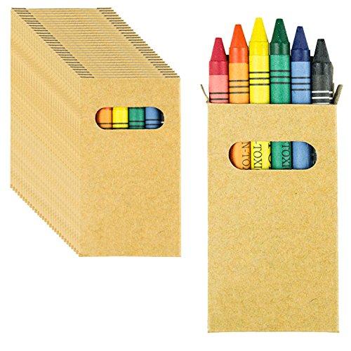 Partituki 30 Sets de Ceras de Colores. Cada Uno con 6 Ceras para Colorear. Regalo Ideal para Detalles de Fiestas de Cumpleaños Infantiles, Piñatas.