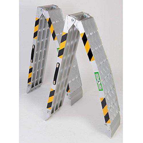 Rampa da carico alluminio max 1360 kg pieghevole coppia MAVATV018(1) per moto,scooter,quad,atv