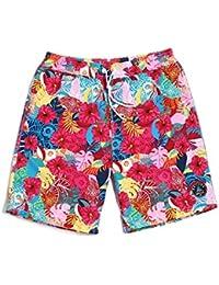 8a32695f22f3 Lantra Besa Rote Blumen Wasserabweisend Schnelltrocknend Damen Herren  Mädchen Kinder Badehose Badeshorts Knielang und Mini Shorts