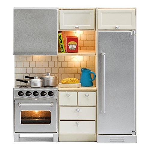 Lundby 60.2095.00 - Küchenset, Minipuppen mit Zubehör (Puppe Kühlschrank)