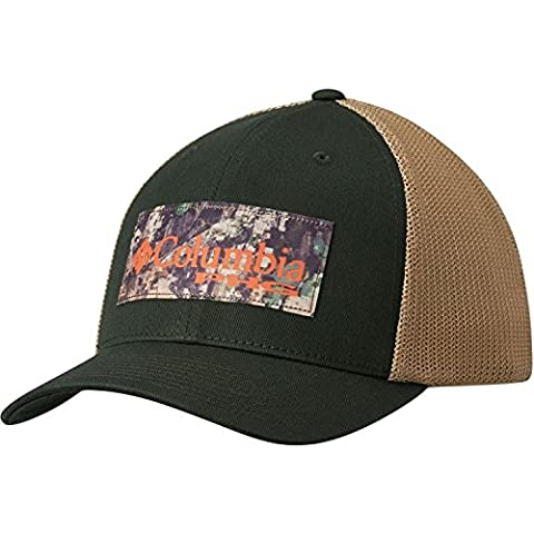 Columbia Men's PHG Mesh Ball Cap Large/Xlarge Dark Moss/Camo Patch