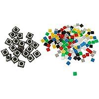 F Fityle 20PCS 12X12X7.3mm Botón Pulsador Táctil Interruptor Momentáneo Tact Con 140pcs