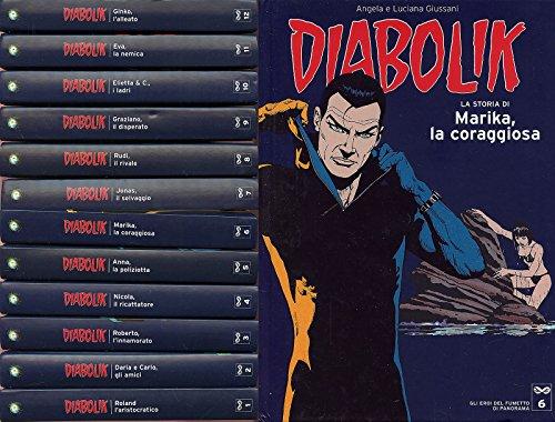FN- DIABOLIK 1/12 EROI DEL FUMETTO DI PANORAMA 1/12 COMPLETA --- 2004 - C- PCX