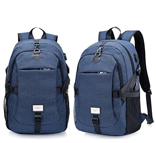 Rucksack Multifunktions-Sport Die USB-Schnittstelle des Mannes Portable Leisure Outdoor Rucksack blue
