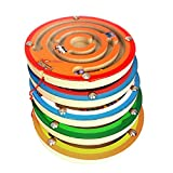 Enlarge toy image: Kasstino Children Round Wooden Puzzle Magnet Beads Slot Maze Board Game Educational Toys