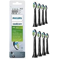 Philips Sonicare optimale Blanc DiamondClean Brushsync activée Têtes de remplacement, Noir, Lot de 8