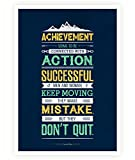 Lab No. 4 - The Quotography Department Lab No. 4 Achievement Seems To Be Conrad Hilton Inspirational Quotes Poster Size A3 (16.5
