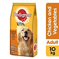 PEDIGREE Chicken & Vegetables, Dry Dog Food (Adult), 10kg