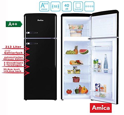 Amica KGC15634S nevera congelador Independiente Negro