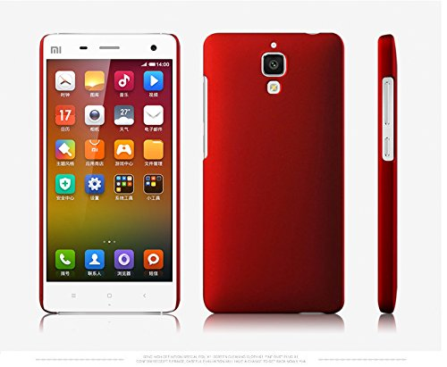 WOW Imagine Matte Rubberised Hard Case Back Cover for XIAOMI MI 4 MI4 (Maroon Wine Red)