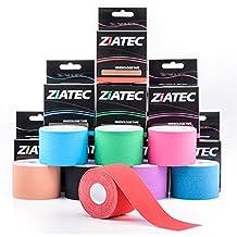 Ziatec Pro Kinesiologie-Tape in vielen Farben - Physio-Tape - Breite: 2,5 cm - Sport-Tape - elastische Bandage für Physiotherapie, Sport, Freizeit und Medizin