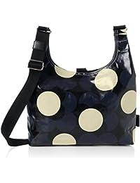 Orla Kiely Women's Shiny Laminated Shadow Flower Print Midi Sling Bag Shoulder Handbag, 33.5x26x10 cm (W x H x L)