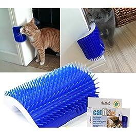 Huuiy 12.7* 8.5* 4.7cm Pet prodotti per gatti angolare massaggio macchina auto Groomer pettine pettine, spazzola con Catnip