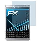 atFolix Schutzfolie kompatibel mit BlackBerry Passport Silver Edition Folie, ultraklare FX Displayschutzfolie (3X)
