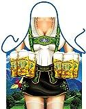 Schürze mit Motiv - Vollbusige Bedienung - zu Volksfest, Wiesn und Oktoberfest im Geschenk-Set mit lustiger Mini-Schürze