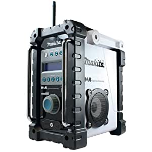 makita bmr101w job site radio with dab white. Black Bedroom Furniture Sets. Home Design Ideas