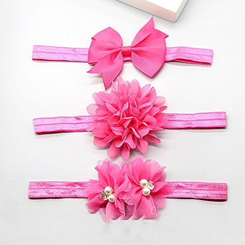 FTHIYK Girl Bow Tie Set Cartoon Headband Headdress Birthday Christmas New Year Gift 3pcs