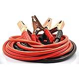 xincol Heavy Duty 1-gauge Ultra 2500A 100% cuivre Fil de câble pour câble de démarrage pour camion anti-frozon Isolation thermique Câbles de démarrage avec sac de transport Taille 10m