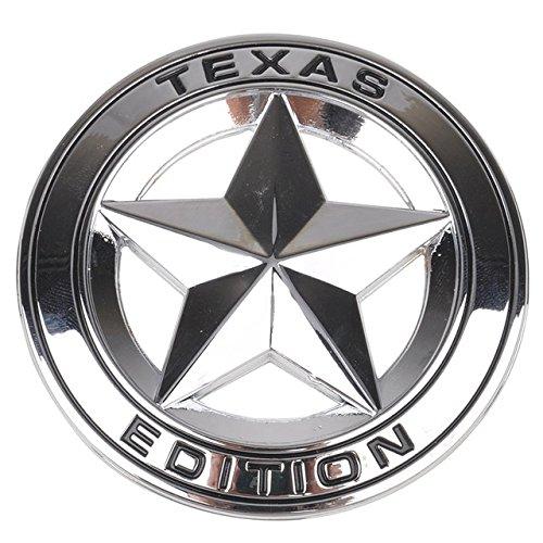 SPA Silver : Mayitr Metal TEXAS EDITION Shield Star Emblem Badge Car Fender Side Tail Body Sticker For JEEP Wrangler Liberty Grand Cherokee