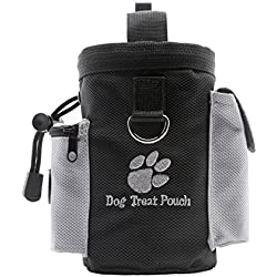 DUBENS Futterbeutel für Hunde,Trainingsbeutel Hund, Futtertasche für Hundetraining und Ausbildung, Oxford Hände Frei Hund Treat Tasche mit Eingebautem Poop Tasche Spender