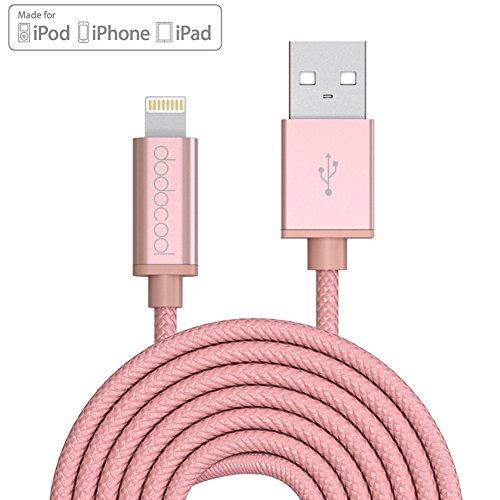 dodocool Cavo Lightning 3m [Certificato Apple MFi] Cavo per Trasmissione Dati e Ricarica per iPhone7/6s Plus /6S /6 Plus /6 /5 /5s /5c /iPad Air1/2 /iPad Pro mini /iPad 1/2/3/4/iPod touch 5 gen / nano 7 gen oro rosa