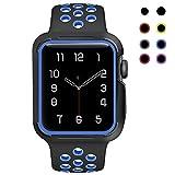 Smart Watch Armband,Silikon Sport Ersatz Uhrenarmbänder mit Hülle für Apple iWatch Serie 3/ Serie 2/ Serie 1 38mm/42mm M/L